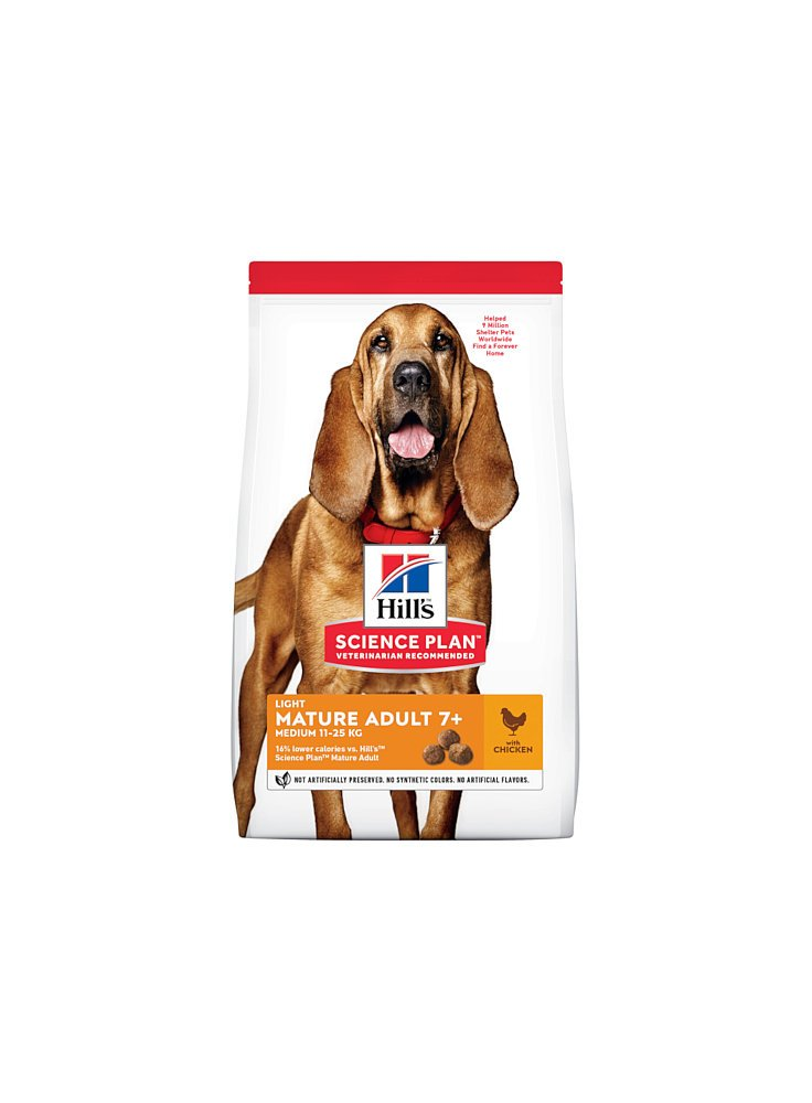 Hill's canine mature medium light al pollo