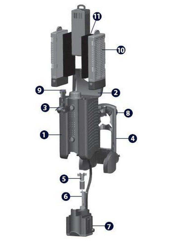 Spugna ricambio filtro kompatto k1 k2 k3 k4