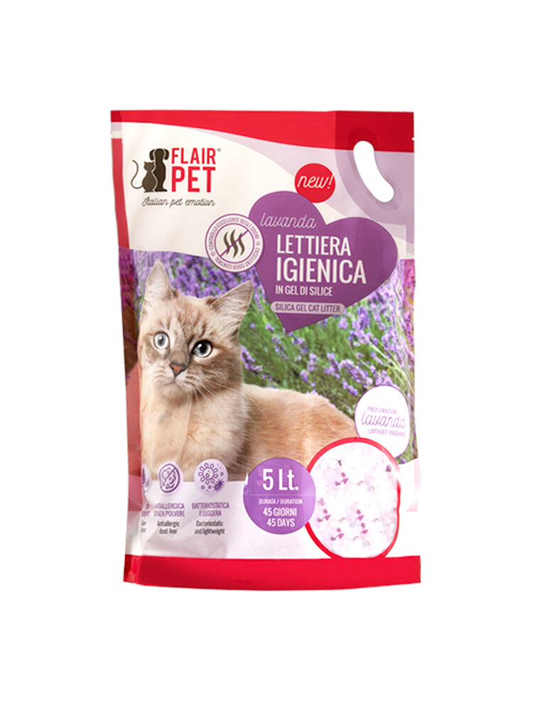 Flair pet sabbia in silicio 5 Lt Lavanda