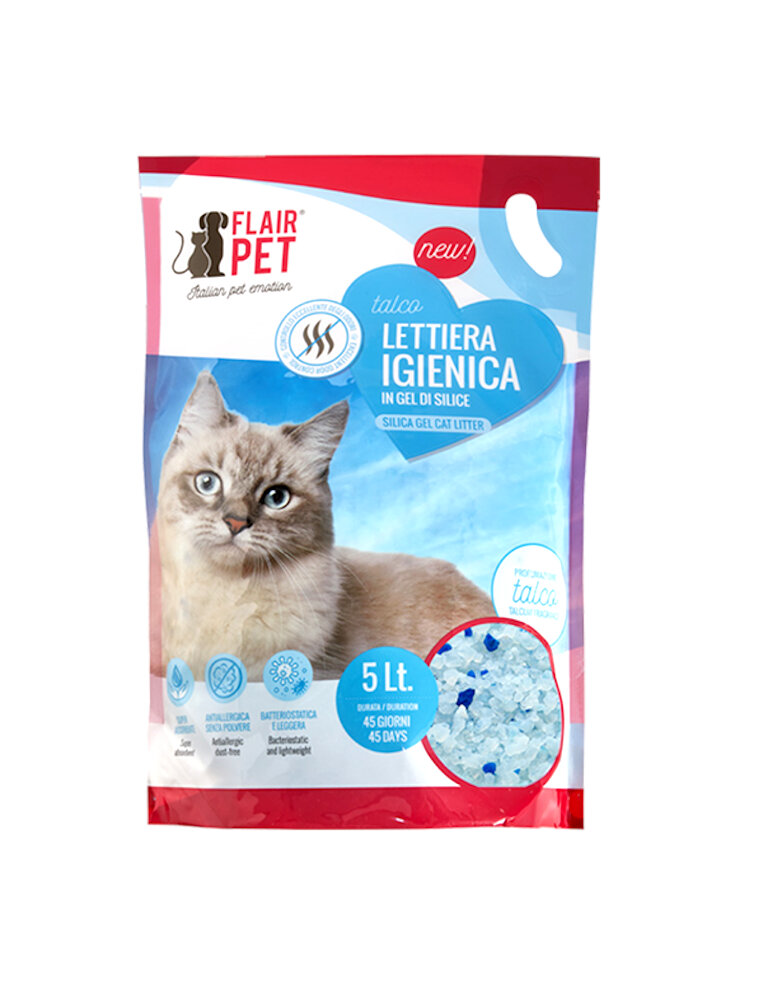 Flair pet sabbia in silicio 5 Lt Talco