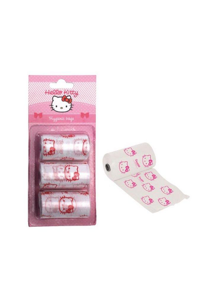 Ricarica sacchetti igienici portafeci Hello Kitty 3 rotoli