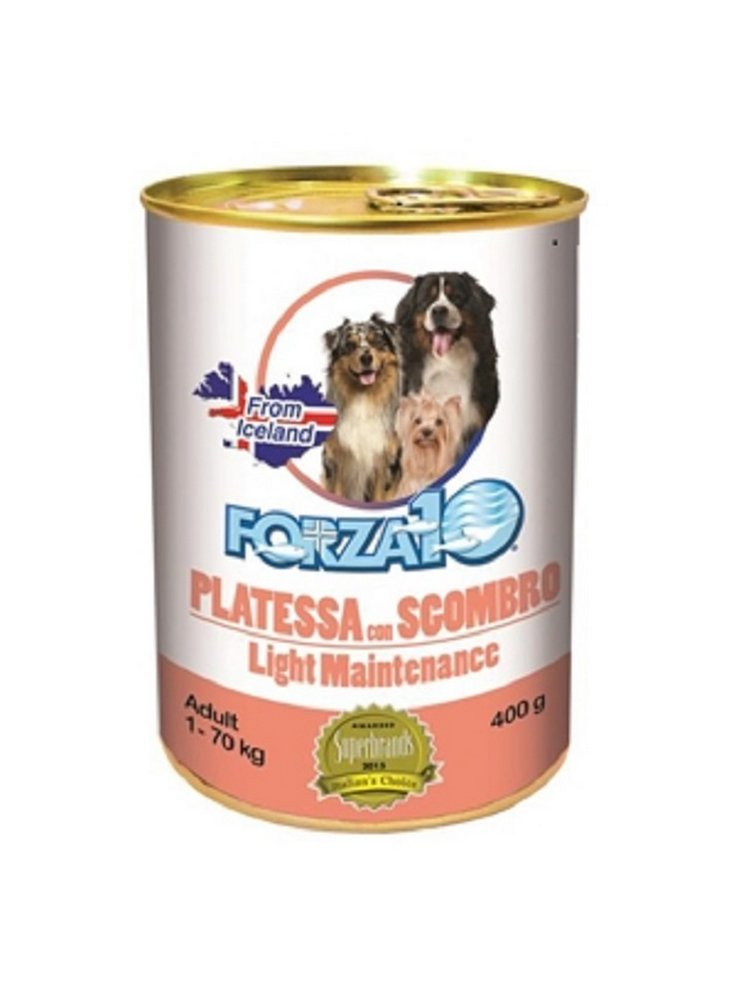 Forza 10 cane adult Maintenance Light 400 gr platessa sgombro