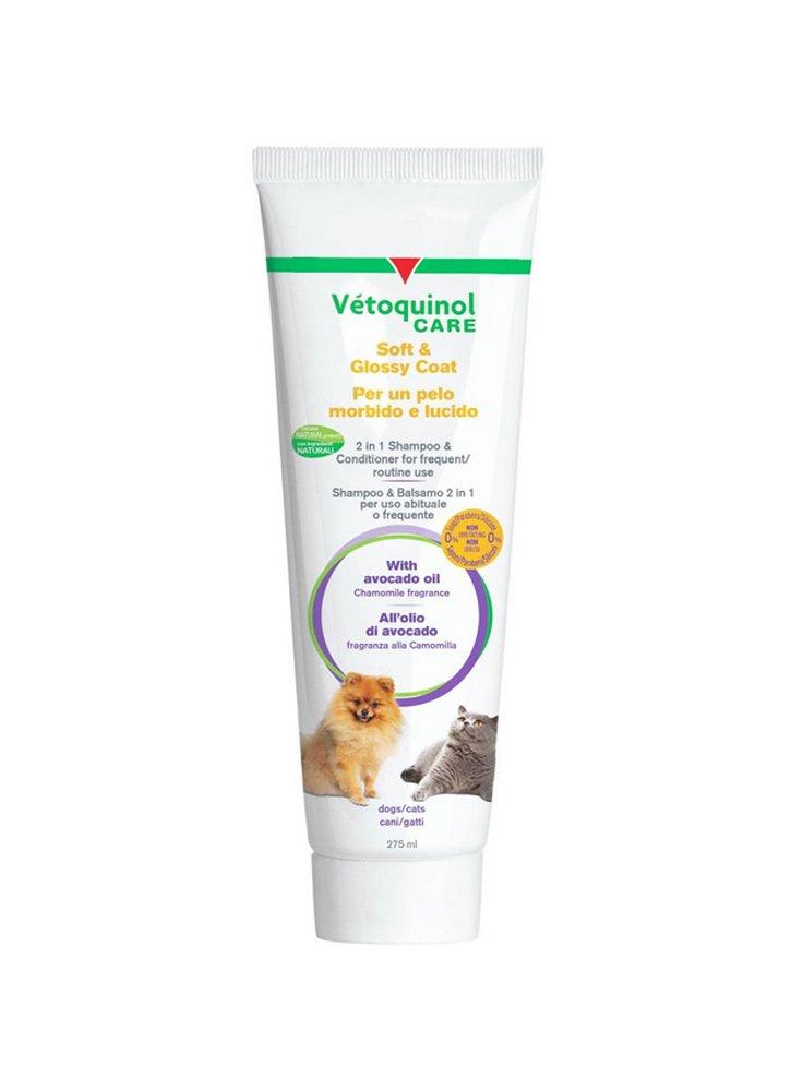 Vètoquinol Care shampoo e balsamo per cani e gatti pelo morbido e lucido 275 ml