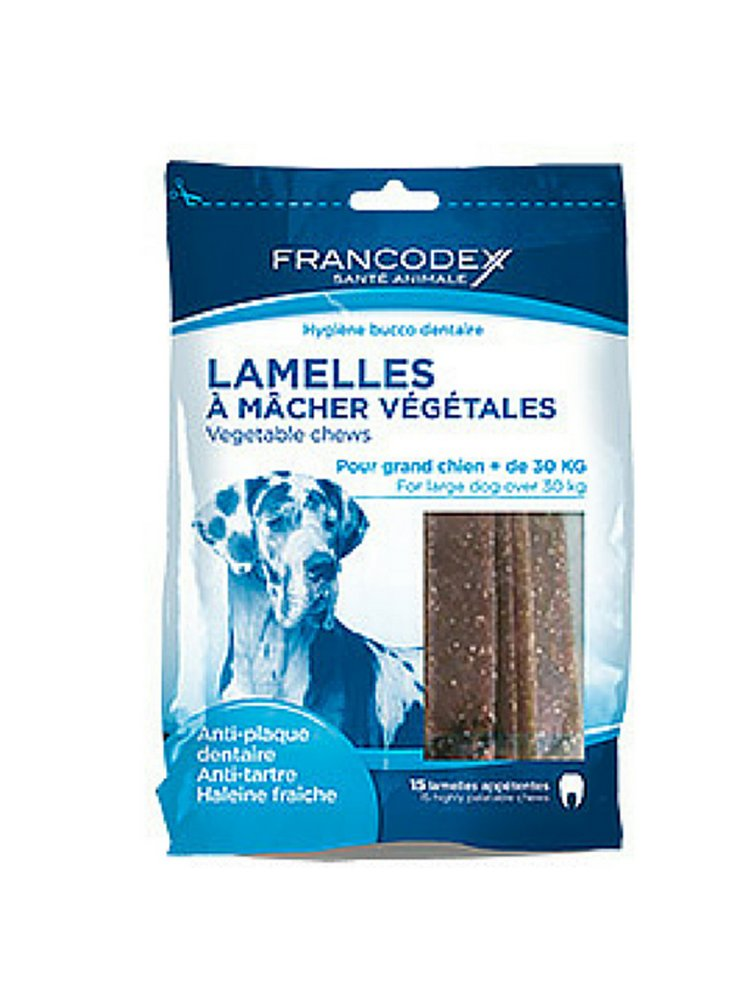 Zolux snack vegetale per l'igiene dentale del cane di taglia grande Francodex