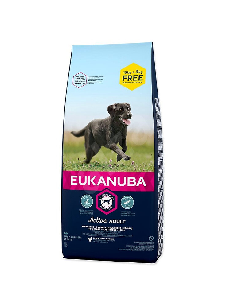 Eukanuba Dog Adult Large Breeds Chicken kg 15+3