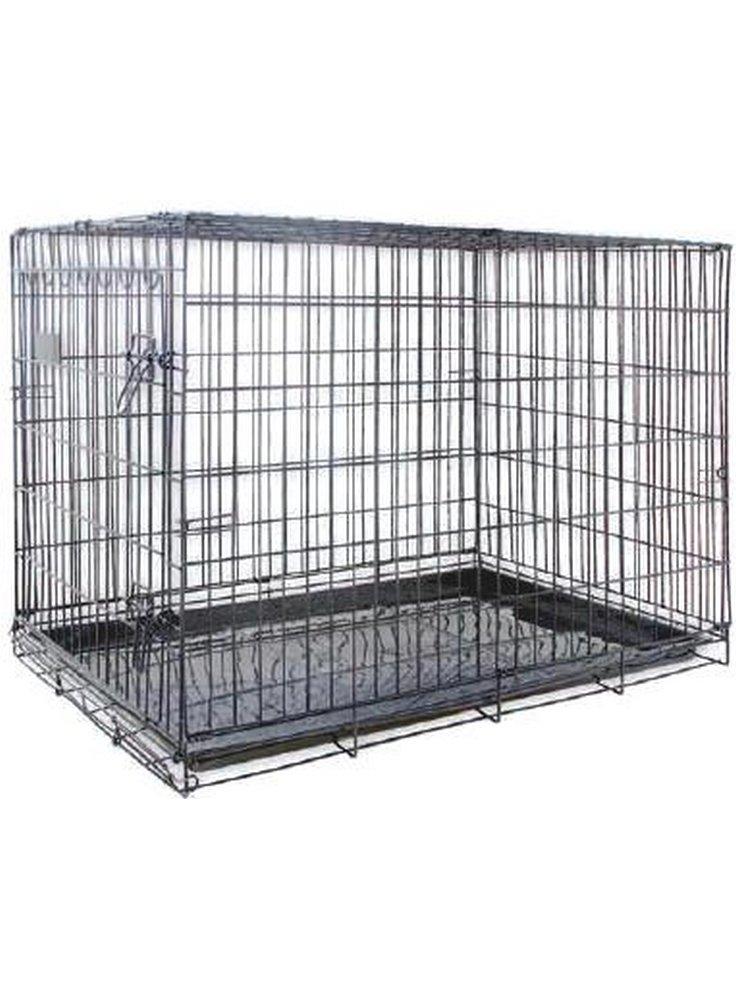 Gabbia trasporto cani trasportino in metallo cm 45x60xh53 8001