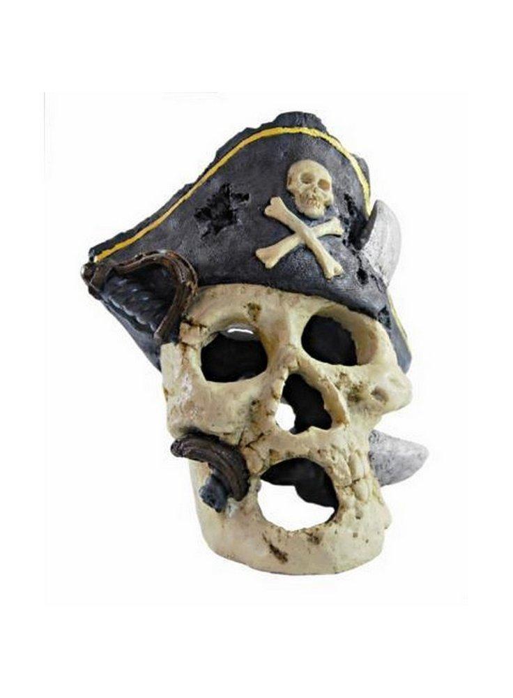 Decorazione per acquari e terrari Haquoss Captain Skull