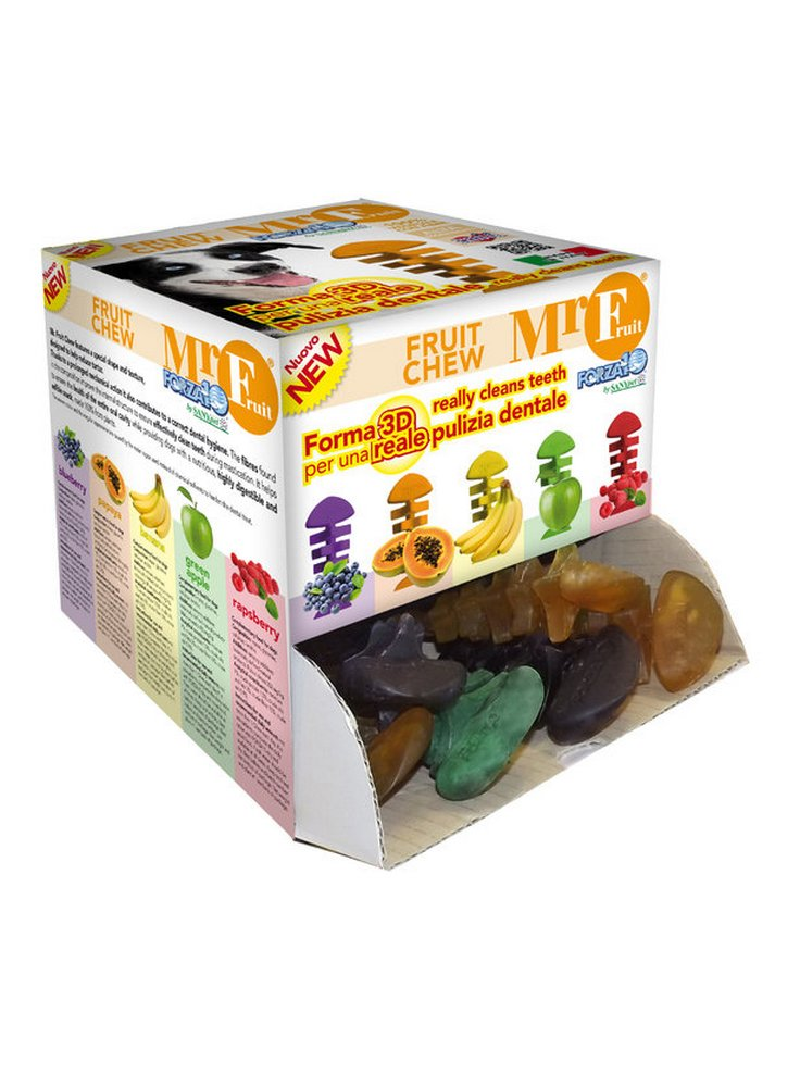 Forza 10 Mr. Fruit dental chew snack per l'igiene orale del cane gusti misti