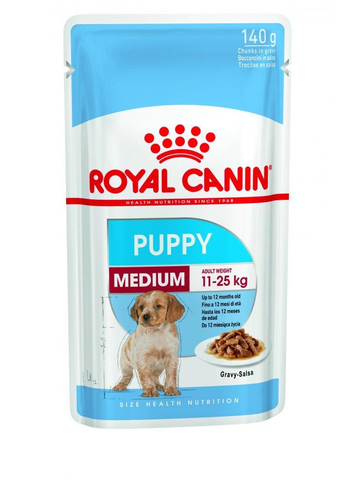 Medium puppy buste cane Royal Canin 140gr Promozione 3 + 1 omaggio