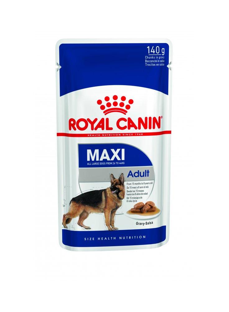 Maxi adult buste cane Royal Canin 140gr 3 + 1 omaggio
