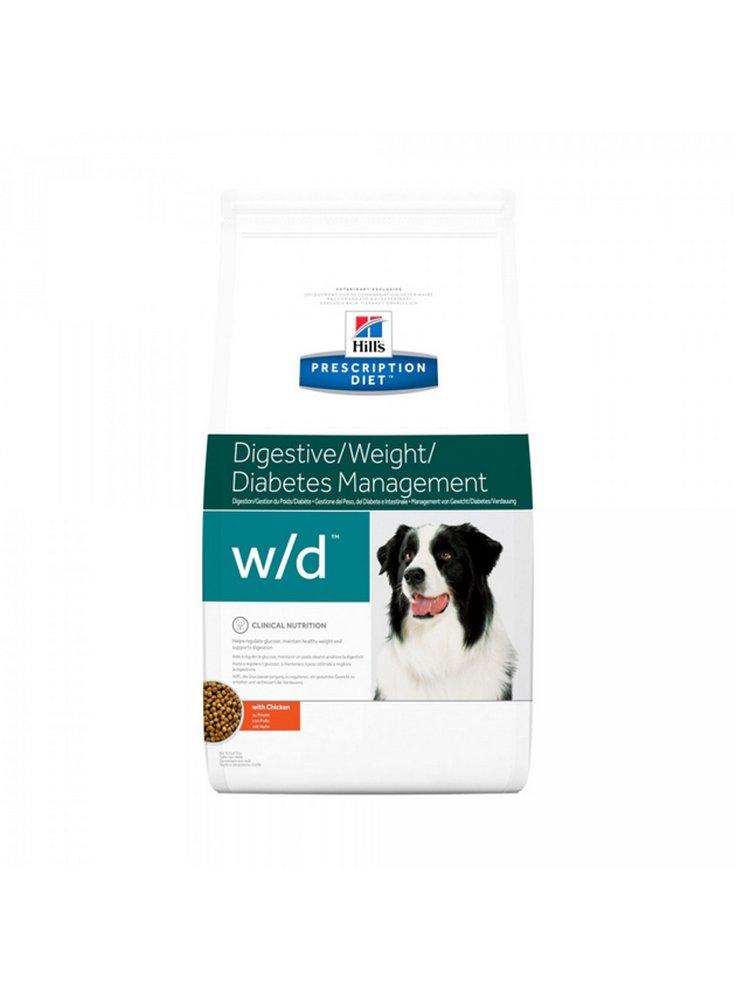 hill's canine W/D e W/D mini mangime per cani diabetici 1.5 4 6 12 Kg scatoletta 370gr