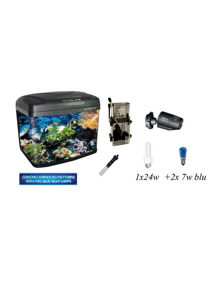 Acquario haquoss Nano extreme lt67 + marine kit