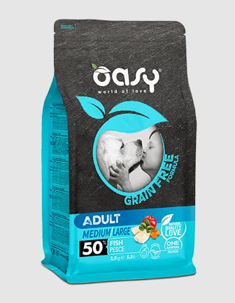 Oasy adult  grain fee crocchette per cane