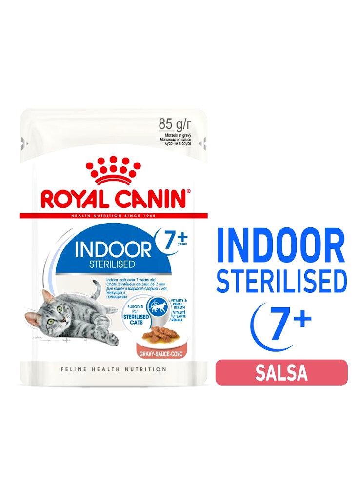Royal canin buste indoor 7+ salsa 12x85 Gr