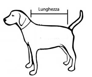 misura del giubbotto per cani