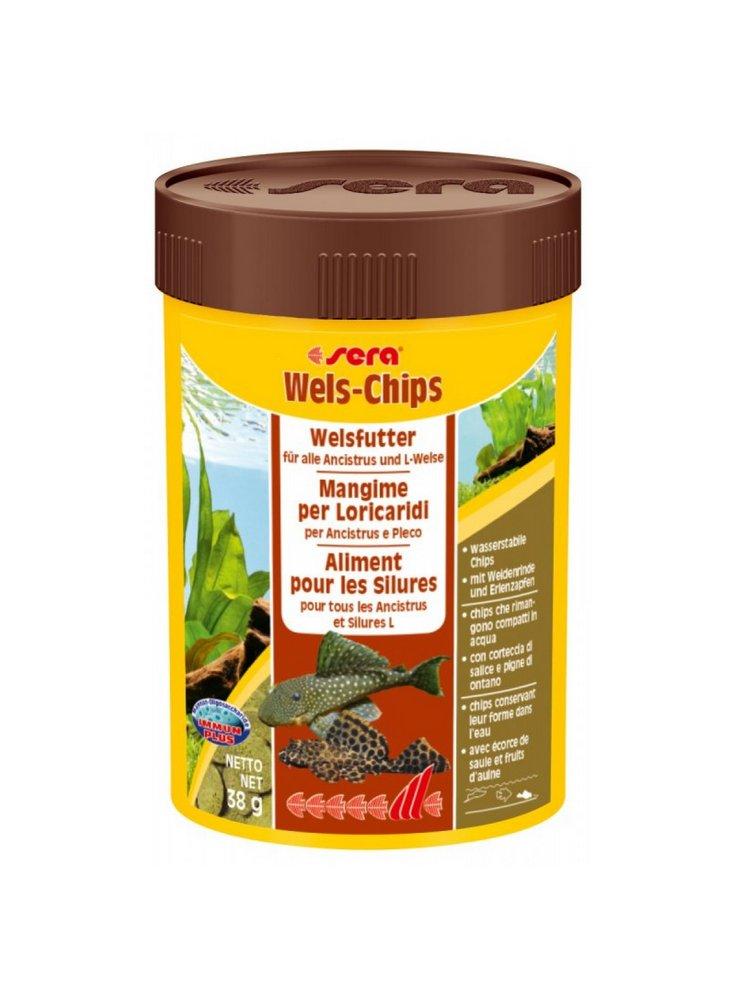 Sera Wels-chips mangime per pesci a ventosa