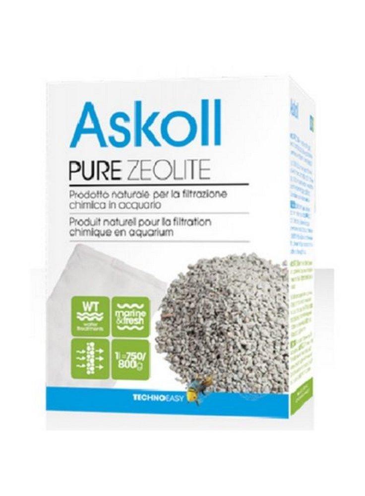 Askoll pure zeolite prodotto naturale per la filtrazione in acquario 800 gr