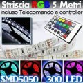Striscia a led 5mt rgb con led controller