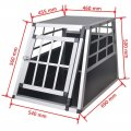 Trasportino auto per cani Alu Dog Cage Small 540x690x500h mm