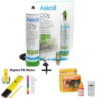 IMPIANTO CO2 ASKOLL SYSTEM PRO GREEN NEW - ph metro elettronico -test kh