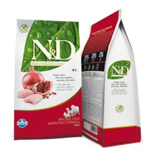 n&d Farmina Crocchette dog grain free large pollo e melograno 12 kg