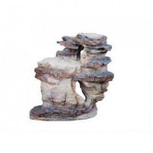 Decorazione wood stone silver rock 6 17x9,5x17,5cm
