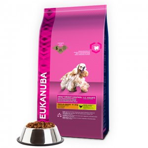 Eukanuba Dog Weight Control Adult Medium Breeds Chicken kg 12