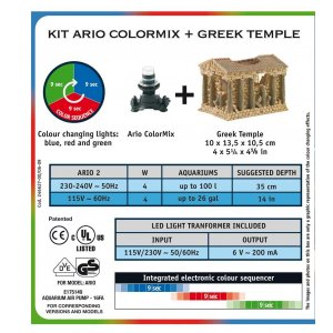 Kit areatore ario color mix + tempio greco