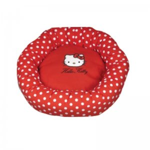Cuccia cuscino Hello Kitty Oval Bed 50 cm Rosso a Pois ecopadding