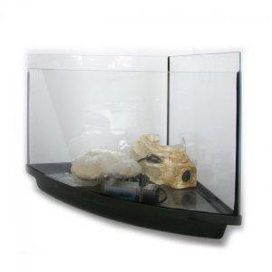 Acquario tartarughiera angolare in vetro curvo tortuga coral for Acquario tartarughiera