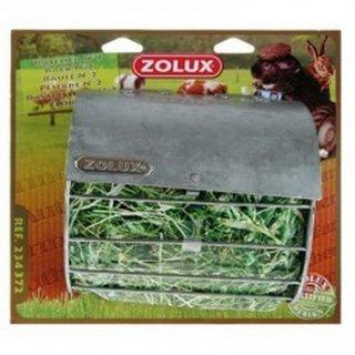 Portafieno rastrelliera N°4 Zolux in metallo per piccoli animali 25x20x13 cm