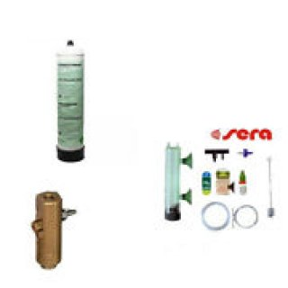 Kit co2 bombola+riduttore askoll ottone+bombola 500gr fino a 400 litri