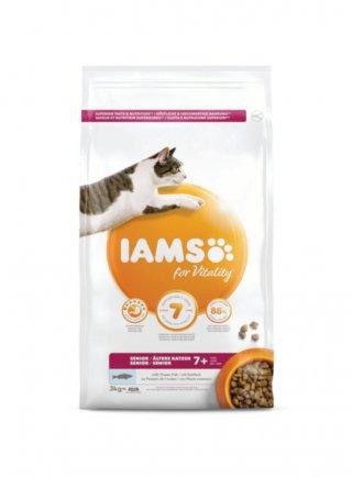 Iams for Vitality Cat Base Senior All Breeds Ocean Fish 3 Kg