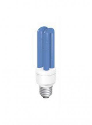 Lampada energy saving Moonshine blu 25.000 k attacco E27 14 watt/2U