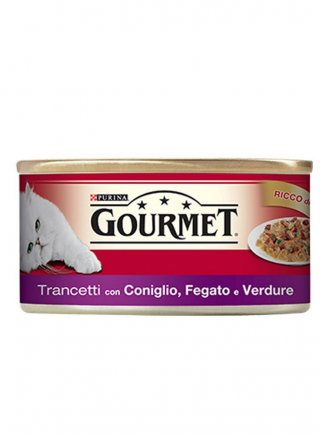 GOURMET 195gr Trancetti in Gelèe con Coniglio, Fegato e Verdure