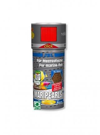 JBL MARI-PEARLS CLICK mangime in granuli con pratico dosatore 250 ml