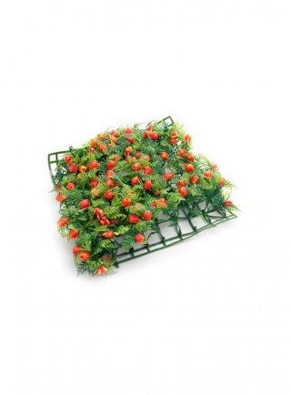 Tappeto erboso prato fiorito rosso 25x25cm