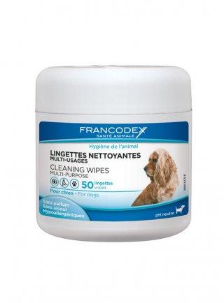 Salviette detergenti multi-uso per cani 50 linguette
