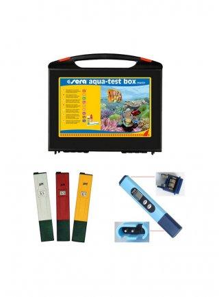 Sera aqua test box marino + 1 phmetro + 1 conduttivimetro