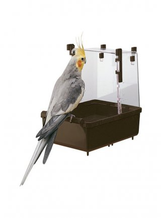 Bagnetto per pappagallini in plastica L101 Ferplast 23,5 x 15,5 x h 24 cm