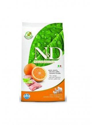 n&d Farmina Crocchette dog grain free large pesce e arancia 12 kg