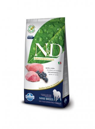 n&d Farmina Crocchette dog grain free medium maxi agnello e mirtillo 12kg