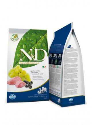 n&d Farmina Crocchette dog grain free medium agnello e mirtillo 12kg