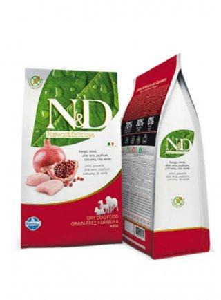 n&d Farmina Crocchette dog grain free medium large pollo e melograno 12 kg
