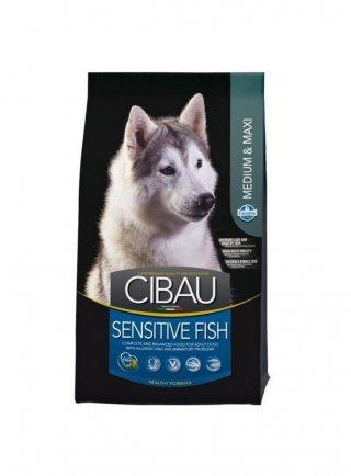 Cibau sensitive fish medium e maxi 12kg