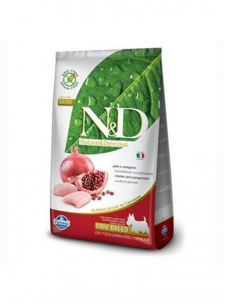 Farmina N&D dog grain free adult mini breed pollo melograno KG 2,5