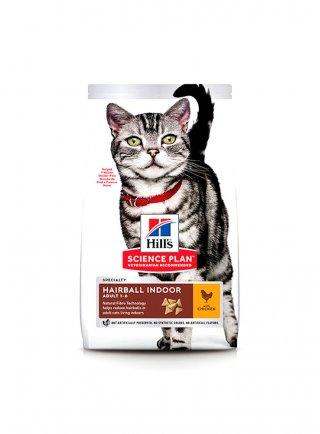 Hill's feline Hairball e Indoor cat con pollo