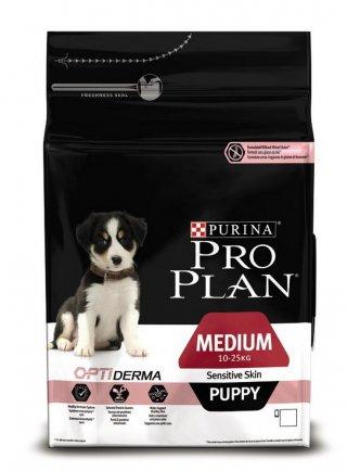Purina Pro Plan Medium Puppy Sensitive Skin Optiderma Salmone e riso