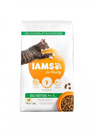 Iams Cat Base Adult All Breeds Pollo