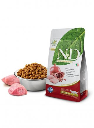 Farmina N&D gatto sterilizzati Neutered grain free pollo melograno 5Kg
